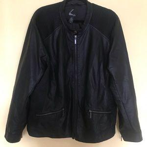 ba038dda9190c Lane Bryant Jackets   Coats - Lane Bryant 22 24 Faux Leather Moto Jacket